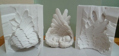 3D BABY IN ANGEL WINGS SILICONE MOULD