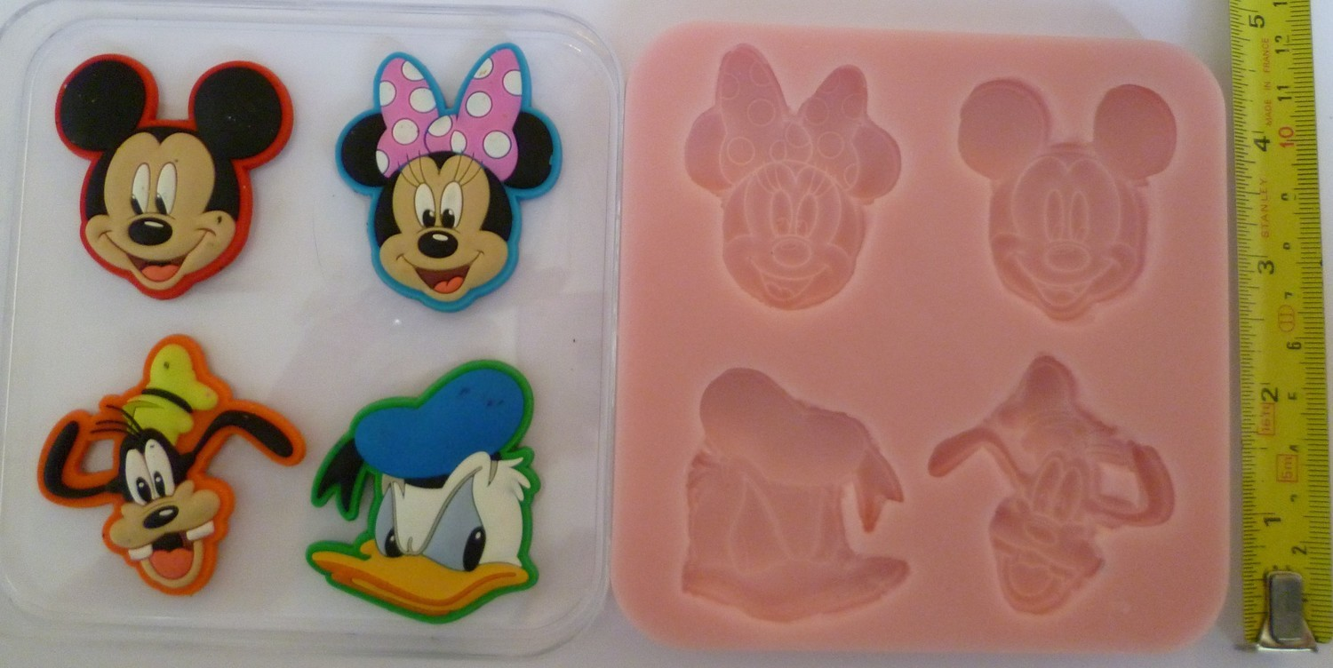 MICKEY, MINNIE, GOOFY & DONALD SILICONE MOULD