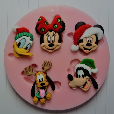 CHRISTMAS DISNEY CHARACTERS SILICONE MOULD