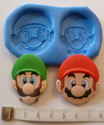 SUPER MARIO AND LUIGI SILICONE MOULD