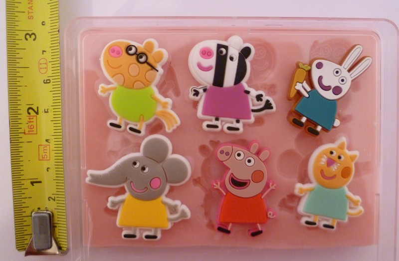 PEPPA PIG FRIENDS 001 SILICONE MOULD