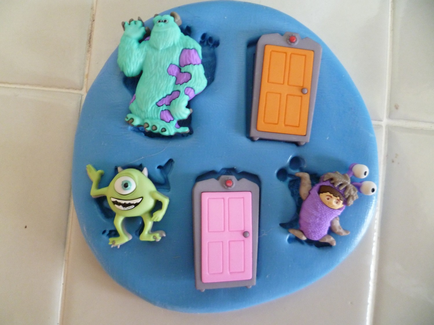 MONSTERS INC SET SILICONE MOULD