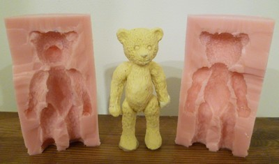 3D TRADITIONAL TEDDY BEAR SILICONE MOULD