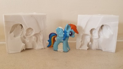 3D RAINBOW DASH MY LITTLE PONY SILICONE MOULD