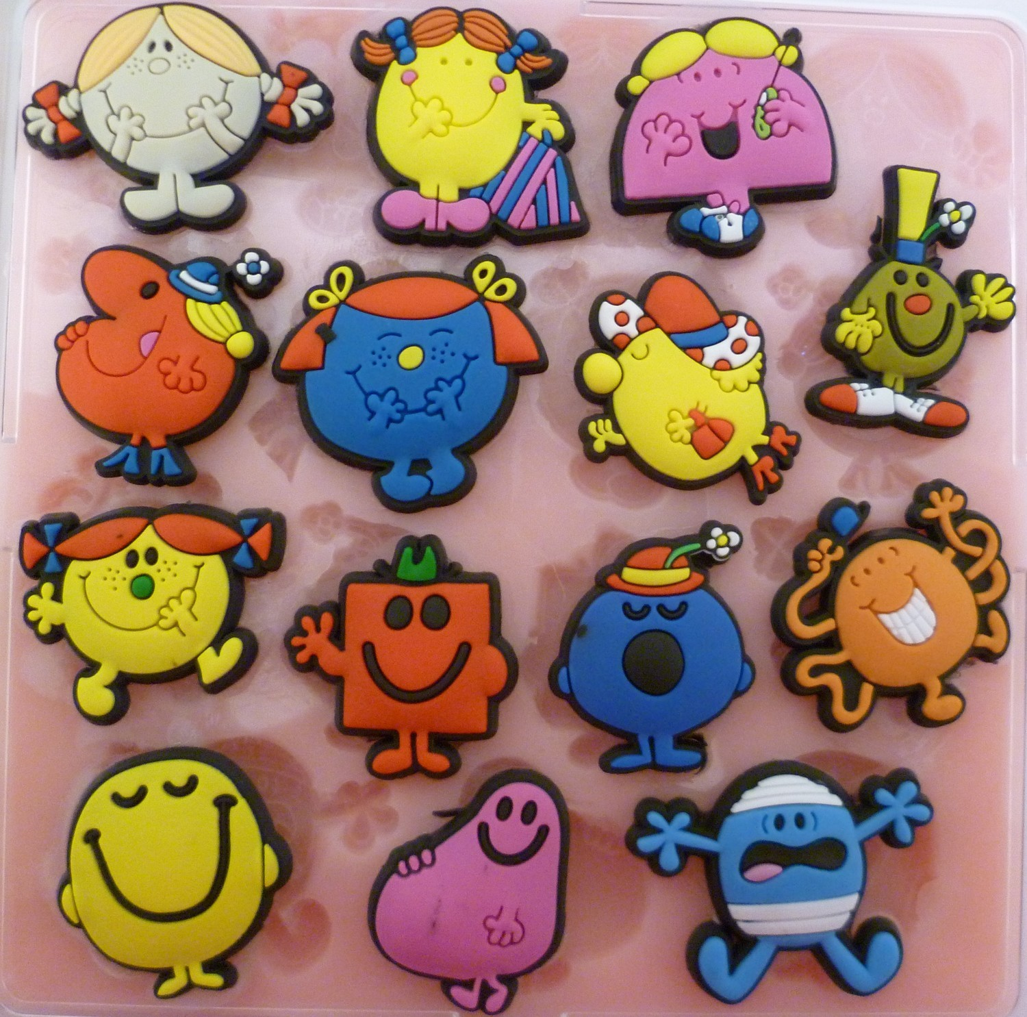 MR MEN AND LITTLE MISS SET SILICONE MOULD