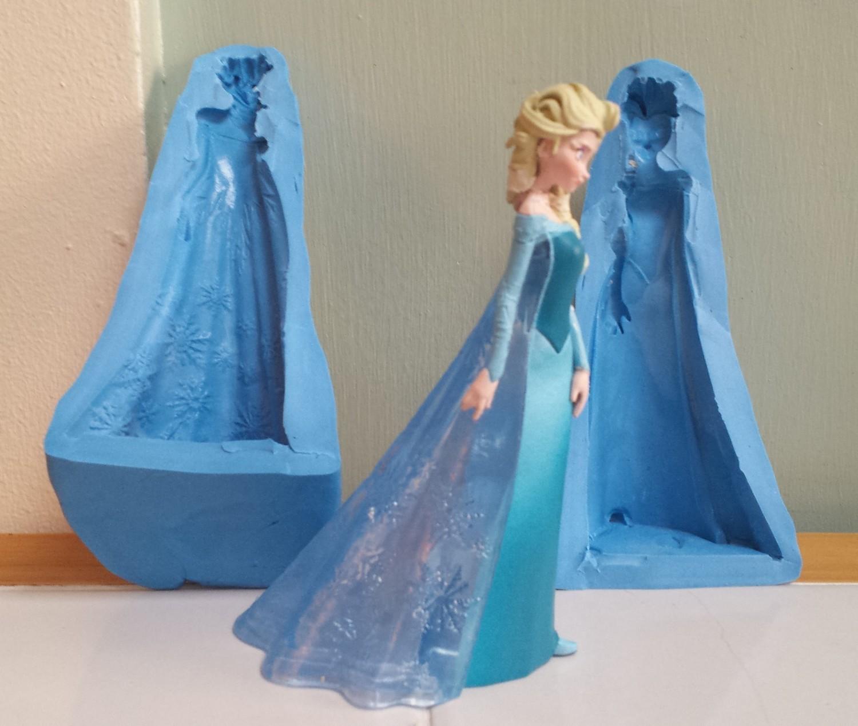 3D PRINCESS ELSA 002 SILICONE MOULD