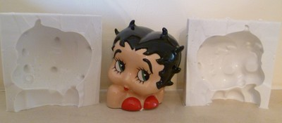 BETTY BOOP HEAD AND SHOULDERS 3D SILICONE MOULD