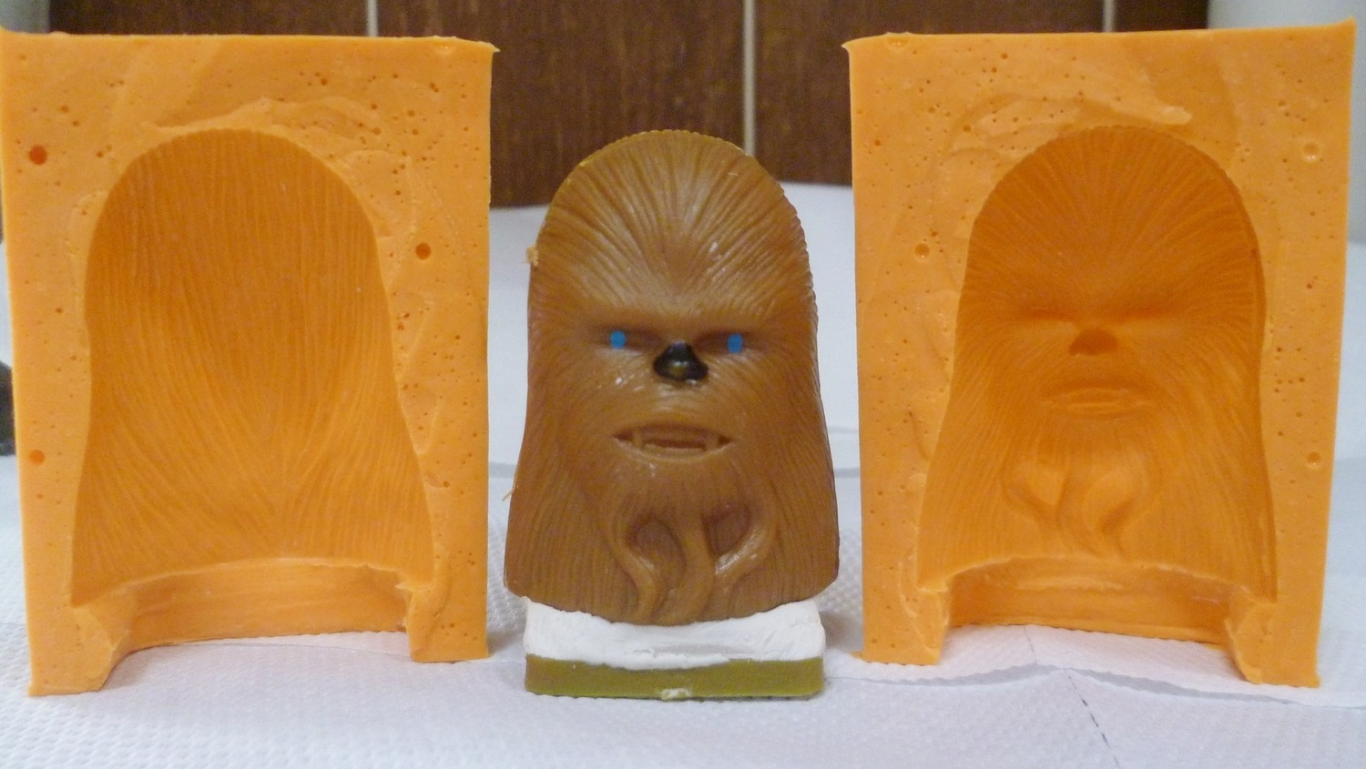 3D CHEWBAKER HEAD SILICONE MOULD