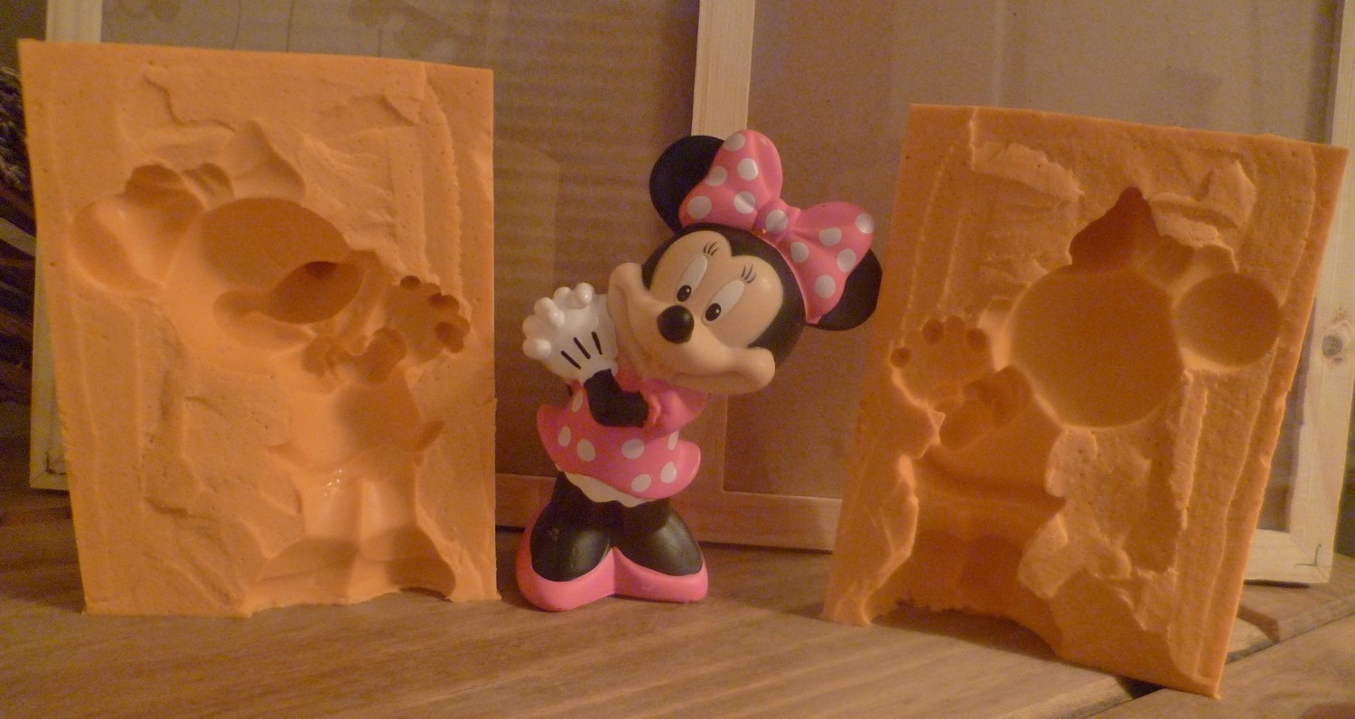 3D MINNIE MOUSE SILICONE MOULD