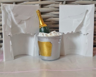 CHAMPAGNE BOTTLE IN BUCKET 3D SILICONE MOULD