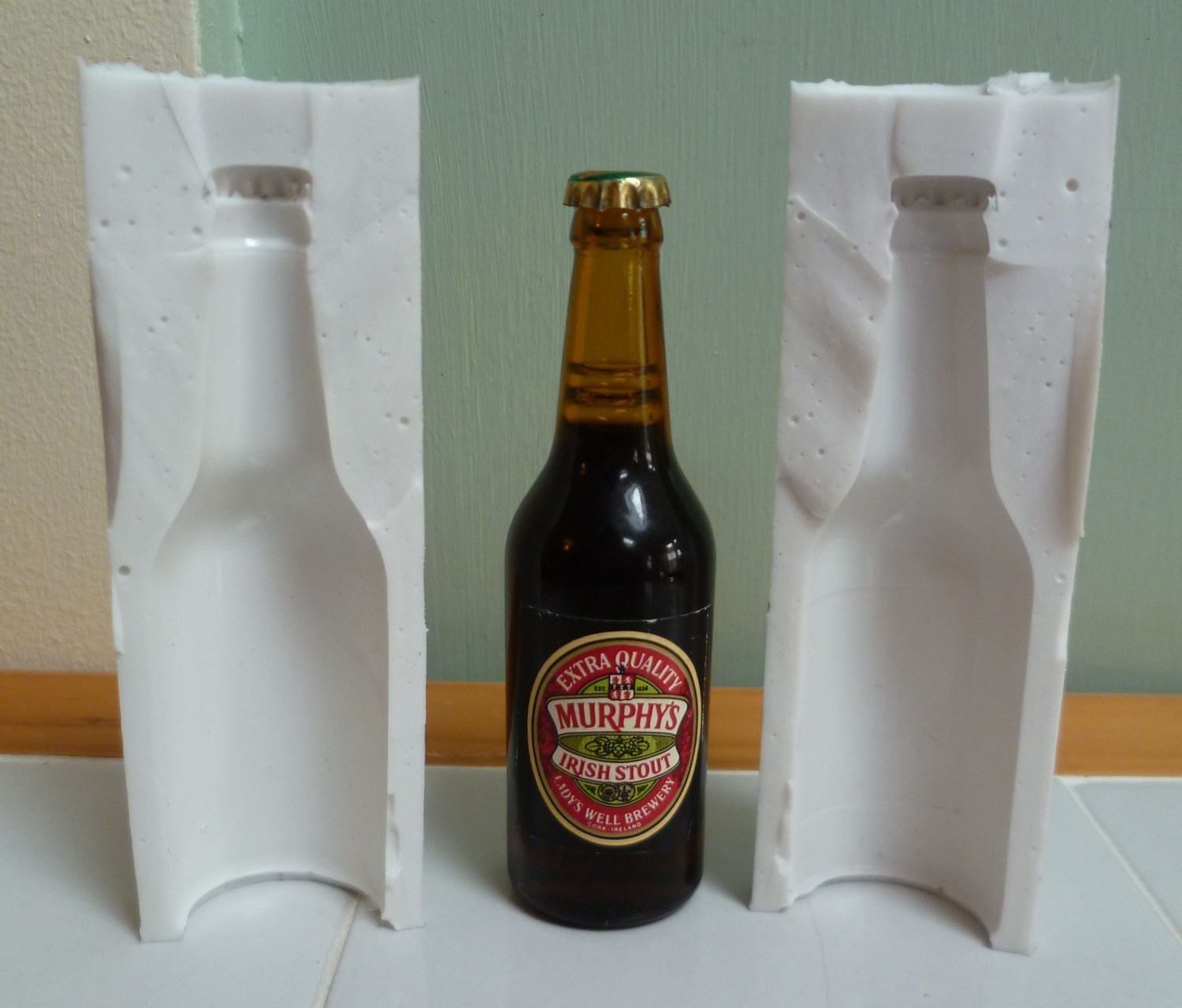MINIATURE 3D BEER BOTTLE SILICONE MOULD