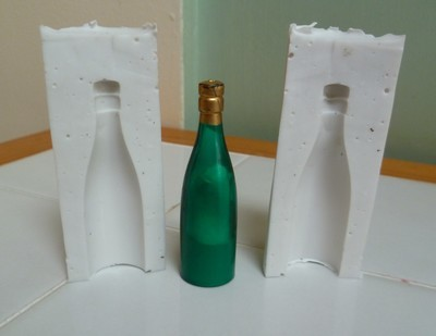 MINIATURE CHAMPAGNE BOTTLE 3D SILICONE MOULD