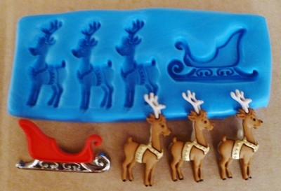 SLEDGE & REINDEER SILICONE MOULD