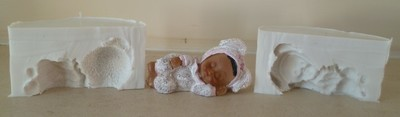 3D SLEEPING BABY 002 SILICONE MOULD