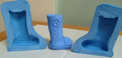 3D WELLINGTON BOOT SILICONE MOULD