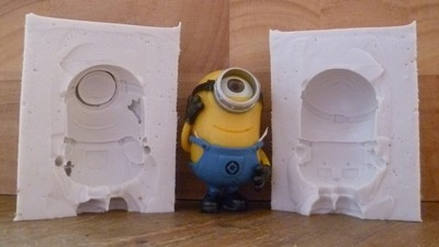 3D ONE EYED MINION SILICONE MOULD