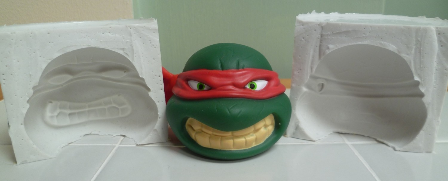 3D TURTLE HEAD SILICONE MOULD