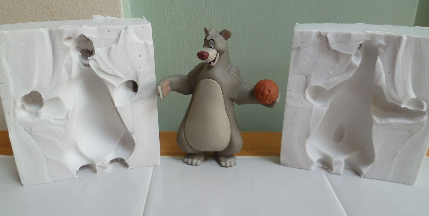 3D BALOO THE BEAR SILICONE MOULD