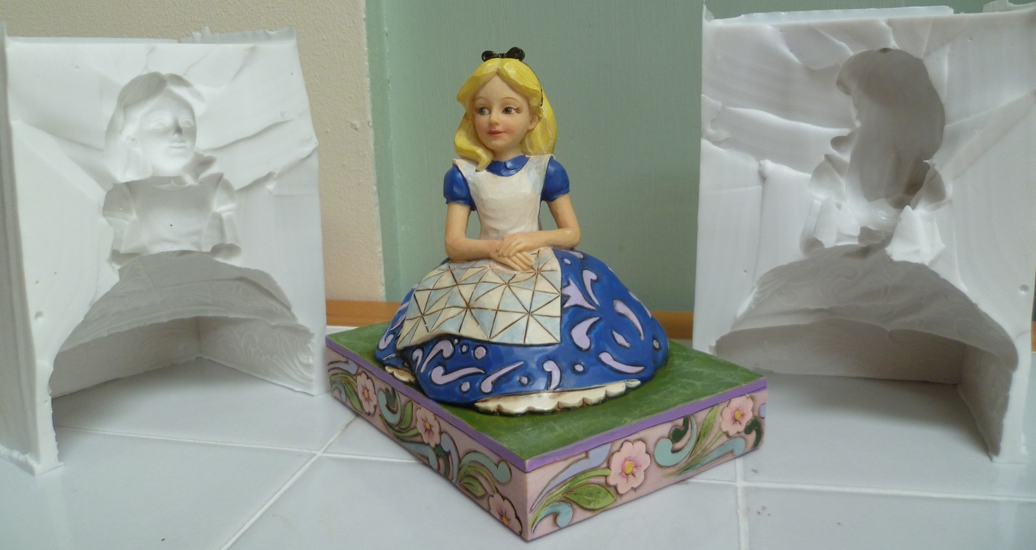 3D TRADITIONAL ALICE IN WONDERLAND SILICONE MOULD