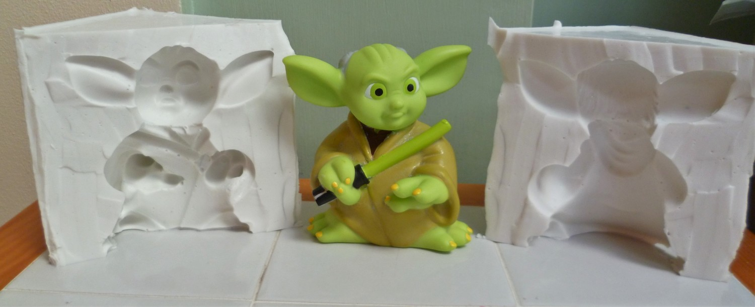 3D YODA SILICONE MOULD