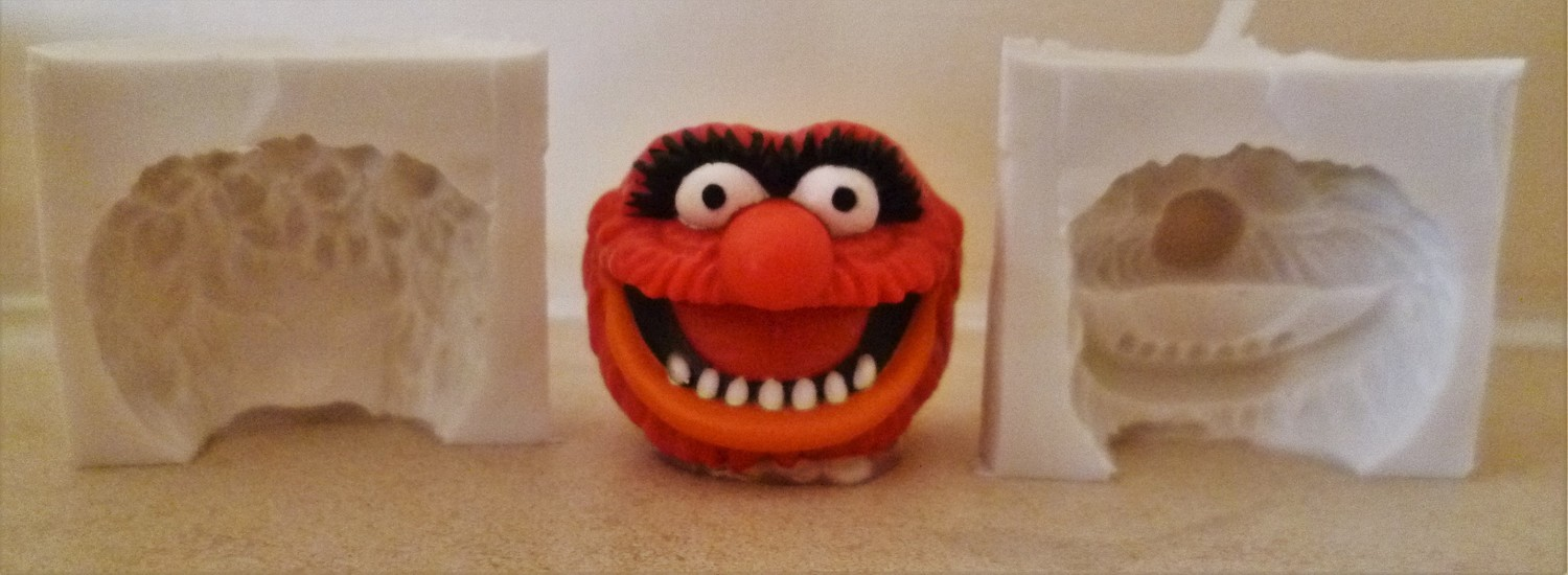 3D MUPPETS ANIMAL HEAD SILICONE MOULD