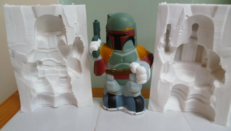 3D BOBA FETT SILICONE MOULD
