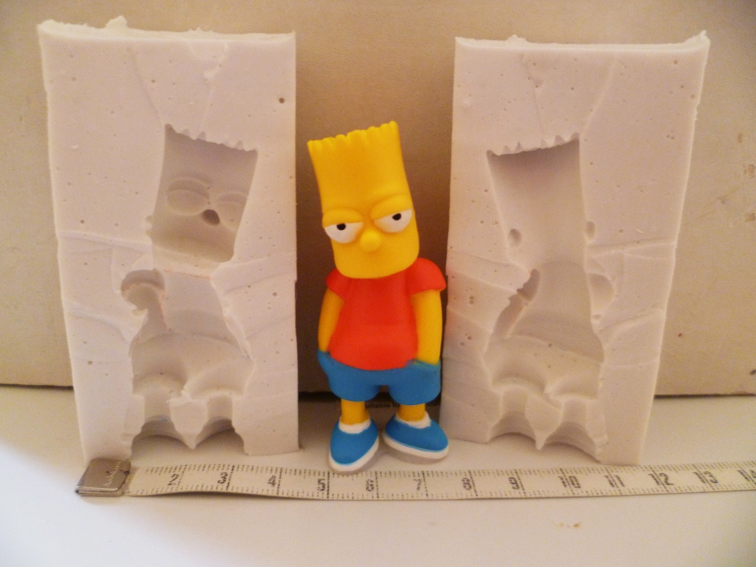 3D BART SIMPSON SILICONE MOULD