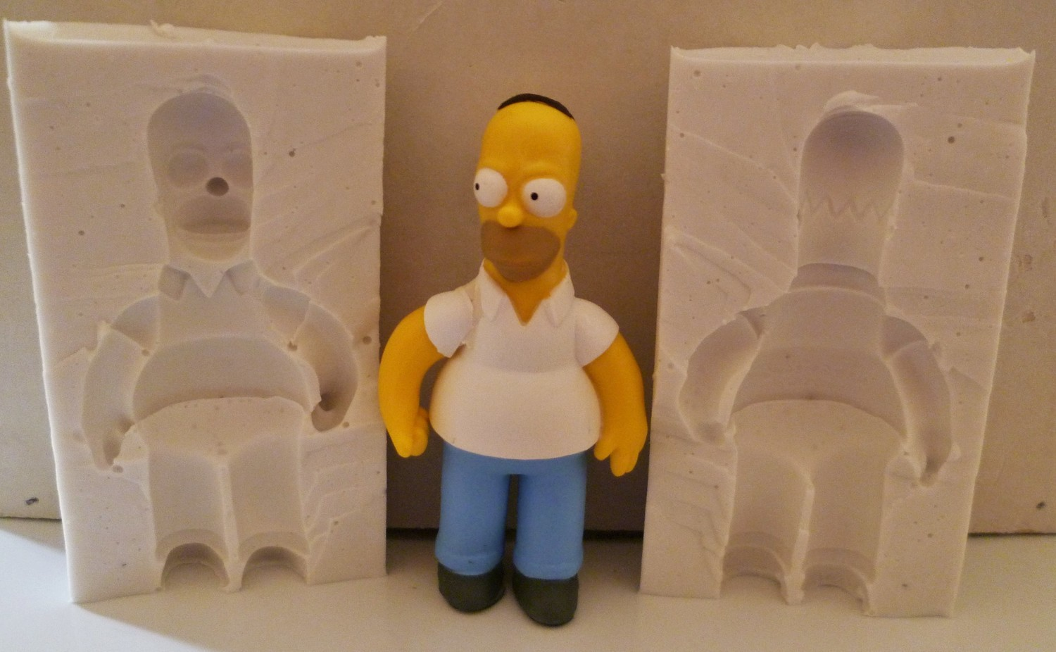 3D HOMER SIMPSON SILICONE MOULD