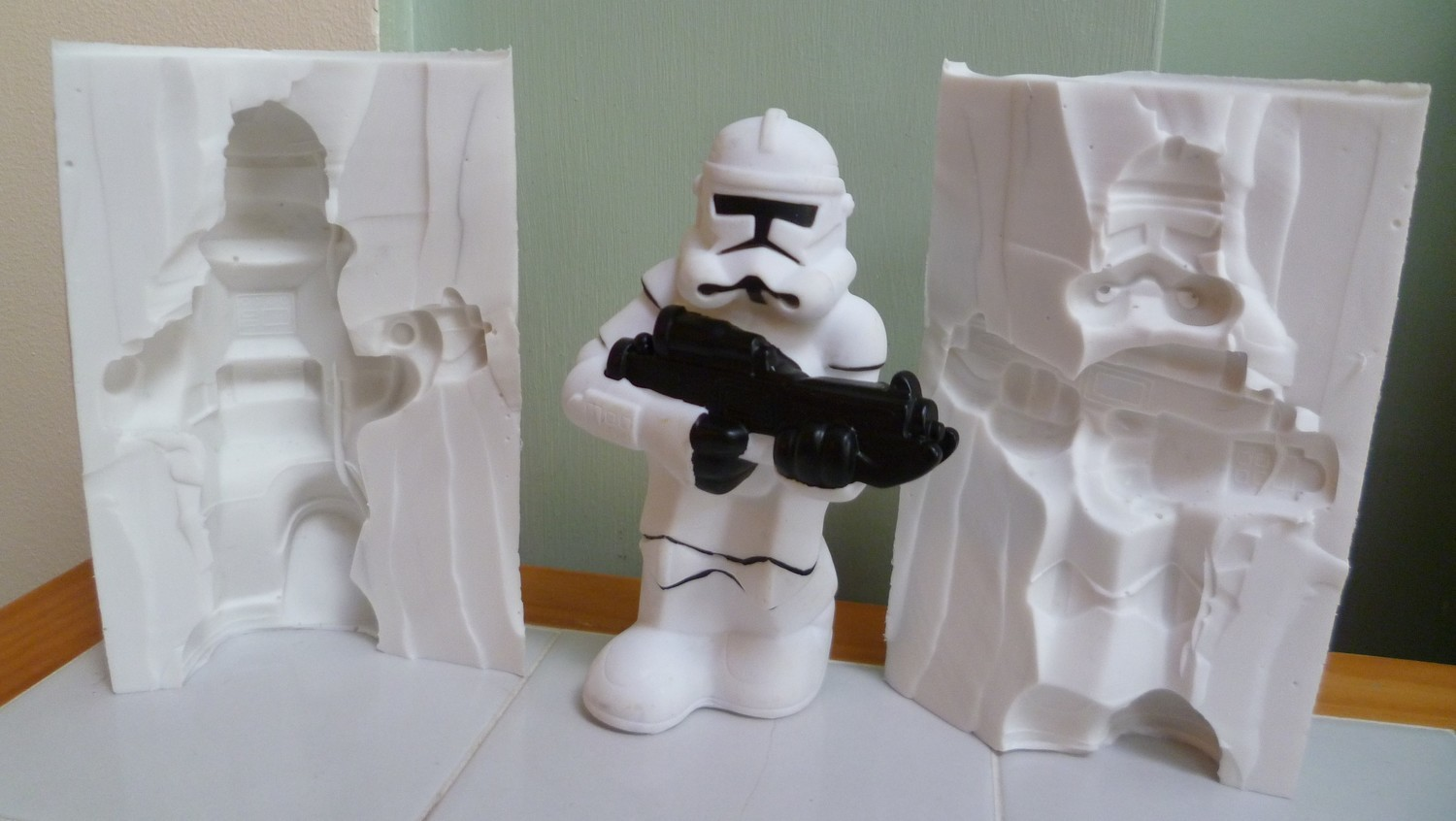 3D STORM TROOPER SILICONE MOULD
