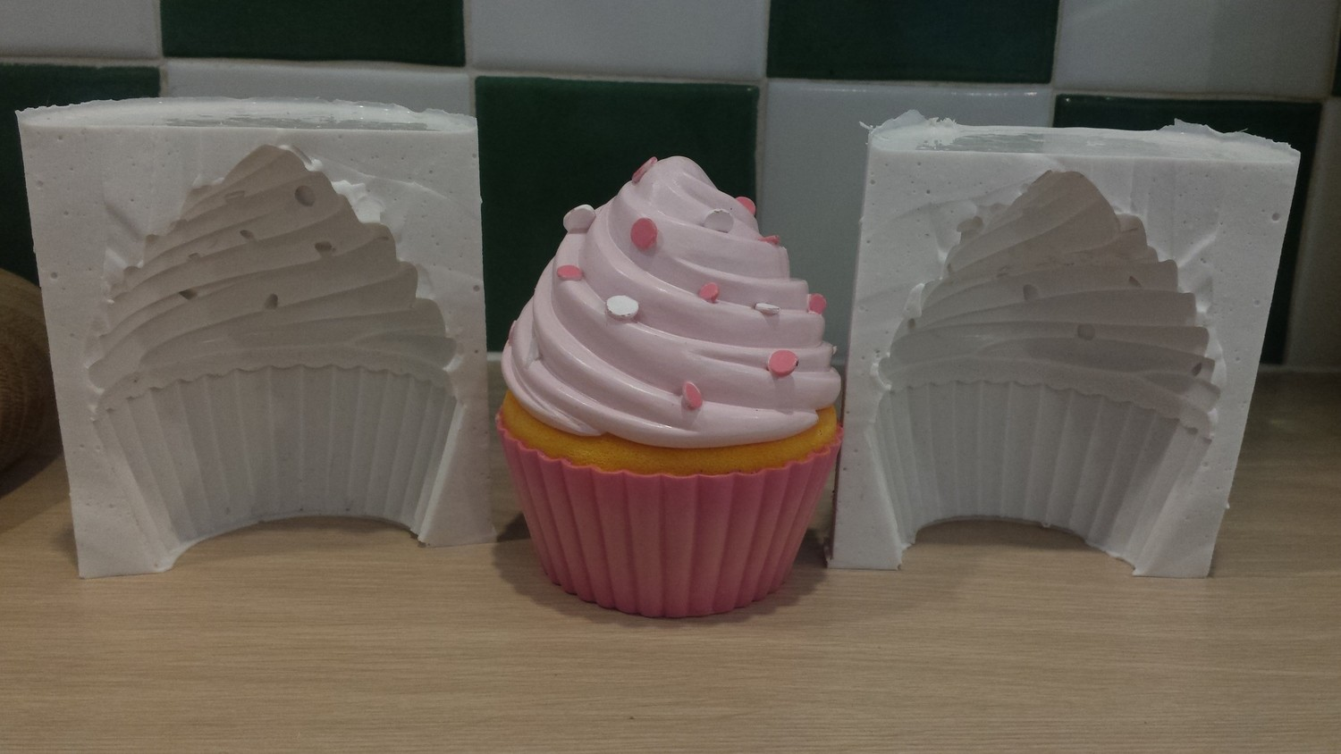3D CUPCAKE SILICONE MOULD