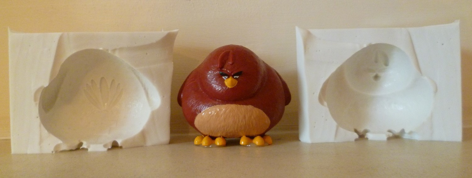3D ANGRY BIRD SILICONE MOULD