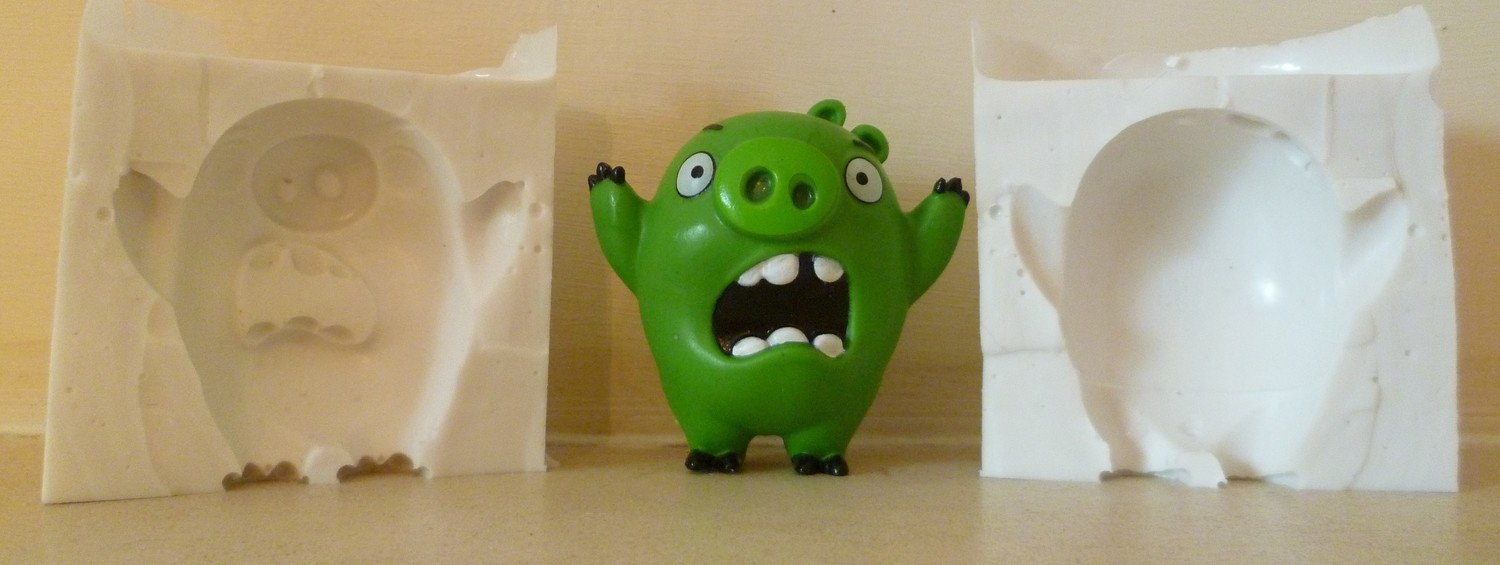3D ANGRY BIRD PIG SILICONE MOULD