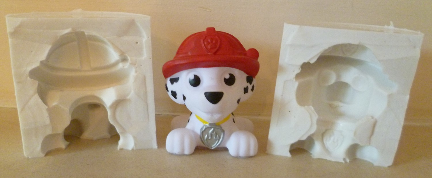 3D PAW PATROL LARGE MARSHALL SILICONE MOULD