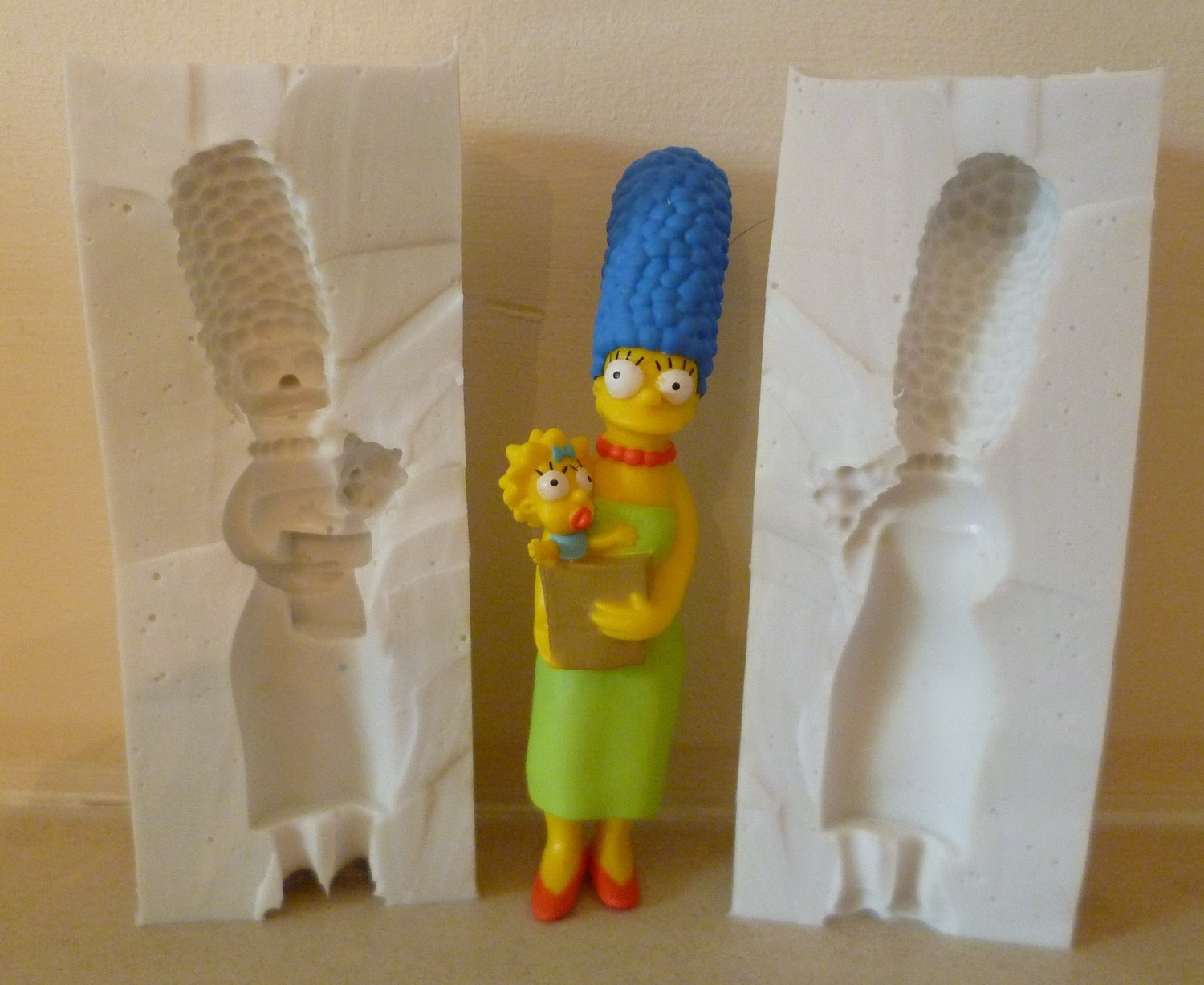 3D MARG SIMPSON SILICONE MOULD
