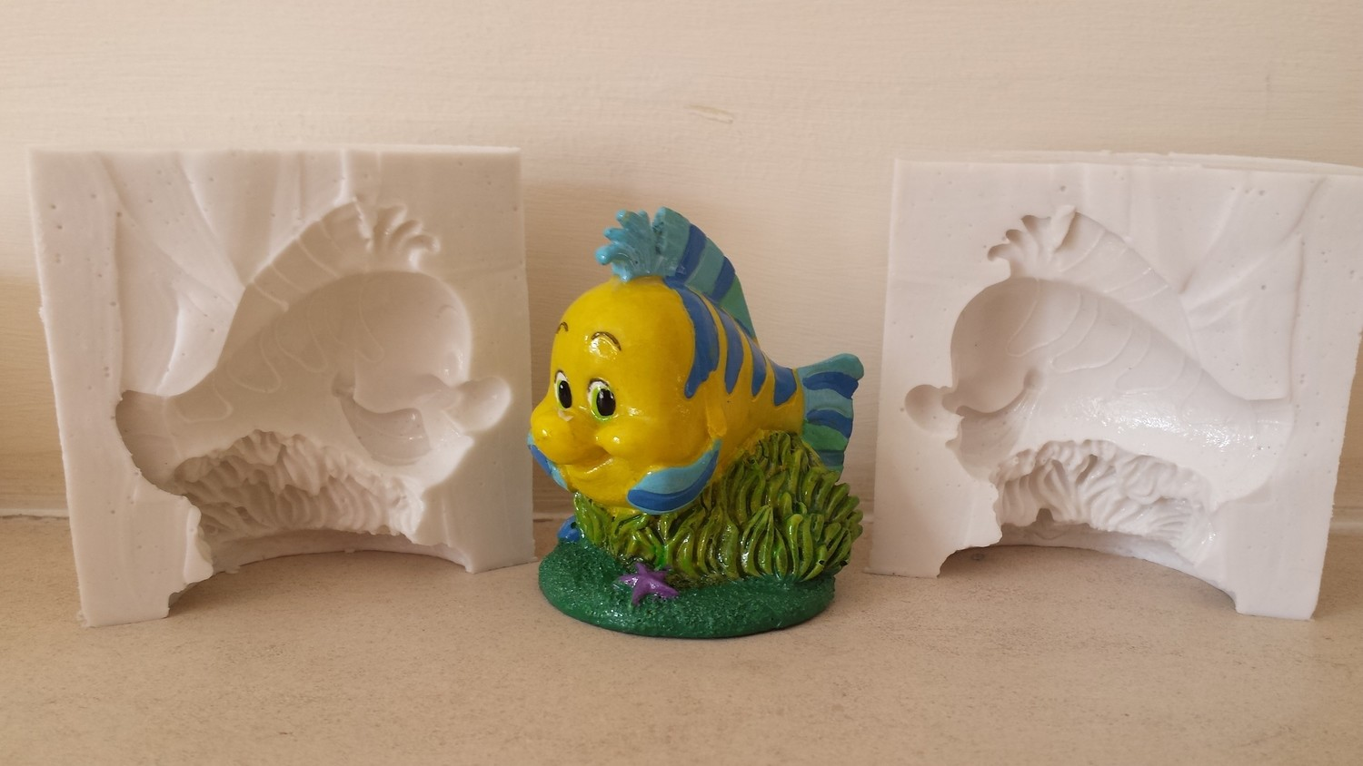 3D FLOUNDER SILICONE MOULD