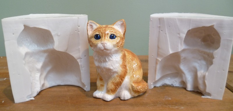 3D CAT SILICONE MOULD