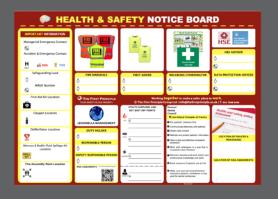 H&S Notice Board for Dentists