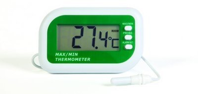 Manual Cleaning - Digital max min alarm thermometer with internal & external sensors