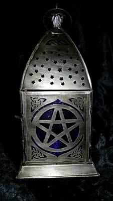 Pentacle Lantern Cobalt Blue