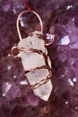 Quartz in Copper Wrap to Enhance Metaphysical Abilities