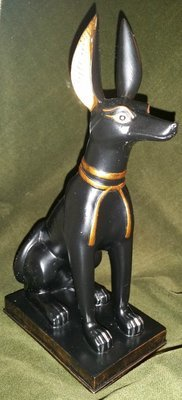 """Anubis Jackal 8.75"""" - Egyptian God of Protection, Justice, and the Dead"""