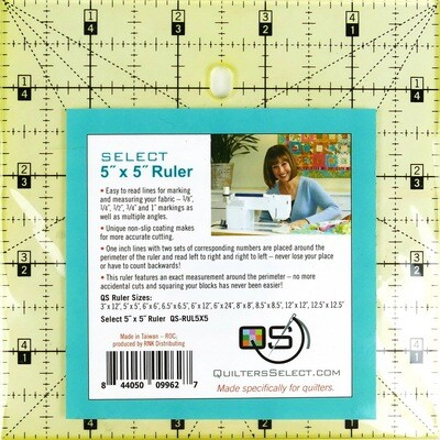 Quilters Select 5x5 Non-Slip Ruler
