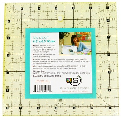 Quilters Select 6.5x6.5 Non-Slip Ruler