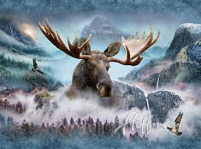 Moose - Hoffman Fabrics Digital PANEL