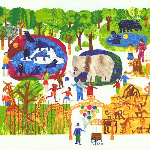 1, 2, 3 to the Zoo by Andover Fabrics PANEL