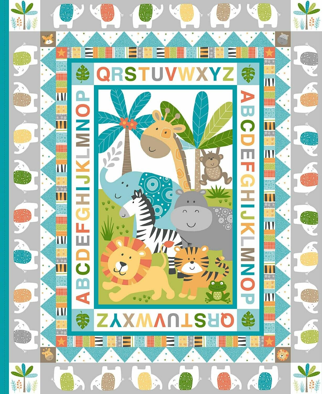 Scenic Jungle Friends for Makower UK PANEL