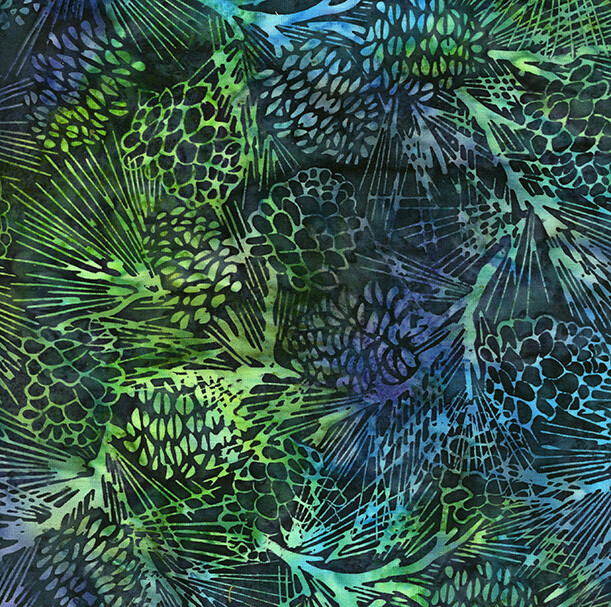 Pinecone Jungle Water - Island Batik