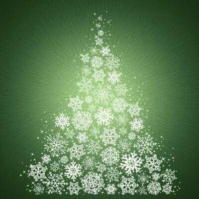SuperNova - Seasons - Snowflake Tree - Hoffman Fabrics - PANEL