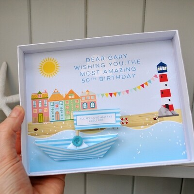 Personalised Paper Boat Message Box