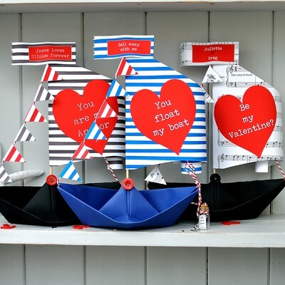 You Float My Boat Personalised Valentine's Day Card